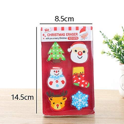 STOBOK 36pcs Christmas erasers for Holiday Kids Students Gift Basic School Supplies (Random Pattern) by STOBOK (Image #4)