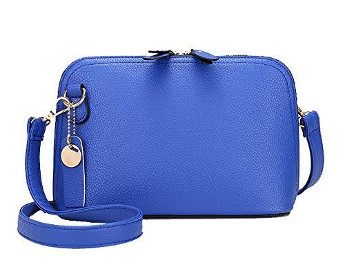 Bags Bags Blue Casual Crossbody Pu AgooLar GMDBA204952 Women's Lightbrown wz5q8xnX