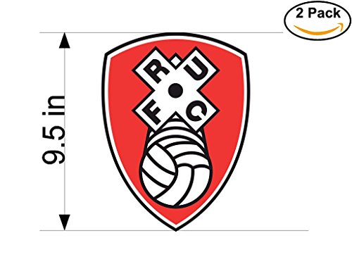 fan products of rotherham united United Kingdom Soccer Football Club FC 2 Stickers Car Bumper Window Sticker Decal Huge 9.5 inches