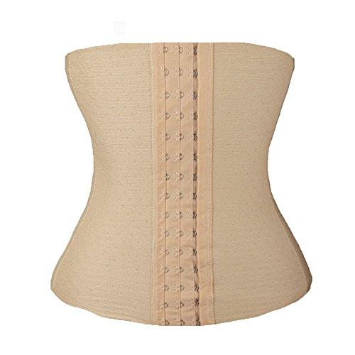 u-pretty mujeres deporte cintura Shaper Underbust cintura Cincher Beige