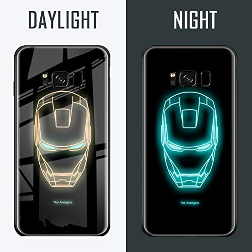Scary Super Symbiote Hero Luminous Fashion Luxury Tempered Glass Hybrid Case for iPhone X 7 8 6 6s Plus XS iPhone XR iPhone Xs MAX Style 1, iPhone X