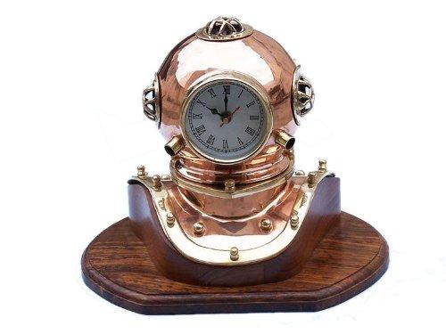 Hampton Nautical  Copper Divers Helmet Clock, 12