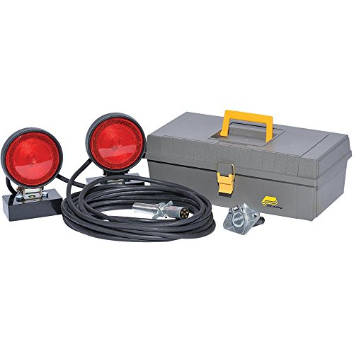AW Direct ST1D Tow 6-Way Tow Light Kit - Stop/Tail/Turn Lights, Magnetic Base with Rubber Housing and Storage Case by AW Direct