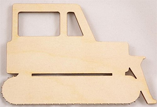 Knob Bulldozer (CMBull Unpainted Bulldozer Wood Cutout Size:Small 4.5