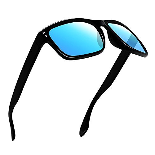 Polarized Sunglasses for Men Women Driving Fishing Unisex Vintage Rectangular Sun Glasses