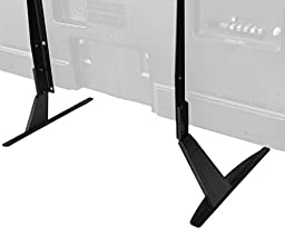 VIVO Universal LCD Flat Screen TV Table Top Stand / Base Mount fits 27\