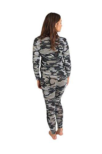 Tamaño Plus Mujer gris camuflaje chándal Joggers ropa de entrecasa nueva caqui