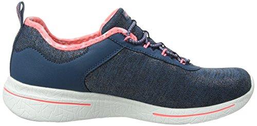 Bleu 0 Navy Pink Noir Femme Side Burst Formateurs Sunny Skechers 2 qpU8SH