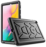 Galaxy Tab A 10.1 Case, Model SM-T510/T515 2019 Release, Poetic Heavy Duty Shockproof Kids Friendly Silicone Case Cover, TurtleSkin Series, for Samsung Galaxy Tab A Tablet 10.1 Inch (2019), Black