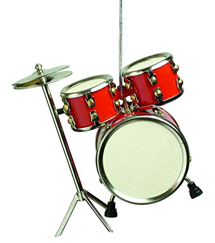 Musical Instrument Christmas Ornament (3″ Red Drum Set)