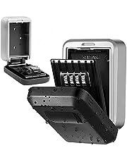 Jasonwell Caja de Almacenamiento Porta Llaves para Pared Caja de Seguridad para Llaves 10000 Combinaciones Montada en la Pared Grande con Cubierta Impermeable para Uso en Interiores y Exteriores