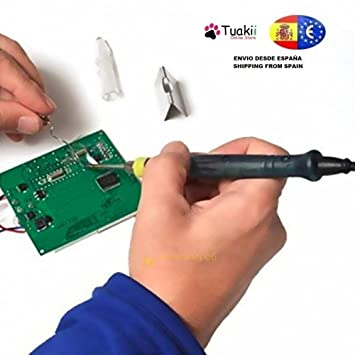 Mini USB Soldador eléctrico Soldadura Estaño 5V 8W punta de pluma: Amazon.es: Electrónica