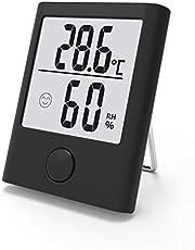 BALDR Thermomètre et hygromètre Portables intérieurs,Thermomètre numérique Domestique,Thermomètre d'intérieur hygromètre d'intérieur,Affichage Confortable,Convient pour Les pépinières, Salons, etc.