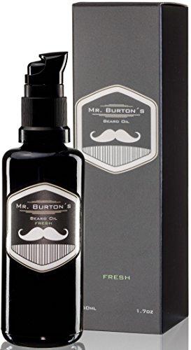 Mr. Burtons Bartöl FRESH - 50 ml Bart Öl für die Bartpflege - 100% natürliche Inhaltsstoffe - Premium Qualität - als Geschenke zum Jahrestag oder Geburtstagsgeschenk für Männer