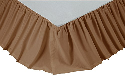 VHC Brands Solid 13818 Bed Skirt, Queen, Khaki