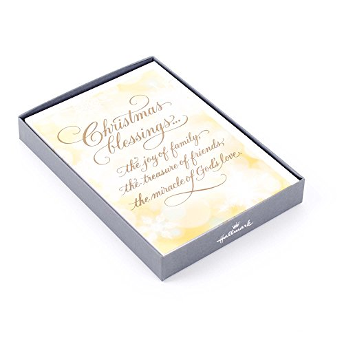 Christmas Card Religious - Hallmark Religious Christmas Boxed Cards (Christmas Blessings) 12 Christmas Greeting Cards and 13 Envelopes)
