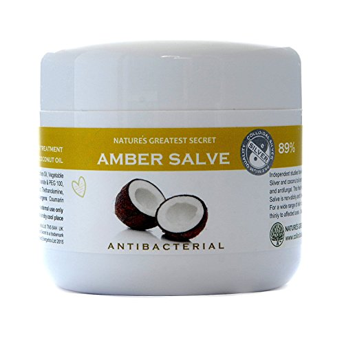 Natures Greatest Secret - Amber Formula - Antibacterial, Antifungal 80% Colloidal Silver and Coconut Oil Intensive Formula -Soothing Skin Treatment - 150ml