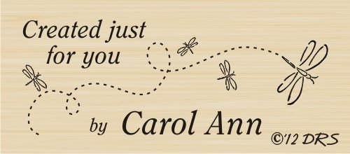 (Custom Dragonfly Created By Rubber Stamp By DRS Designs)