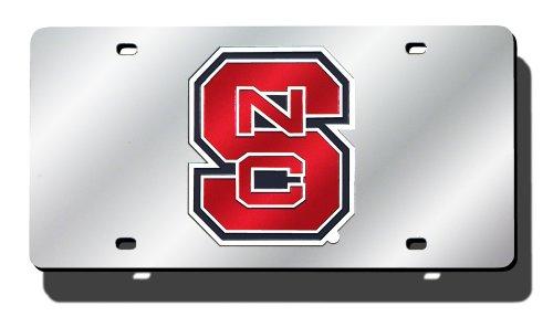 North Carolina State Wolfpack Car - NCAA North Carolina State Laser Cut Auto Tag, Silver