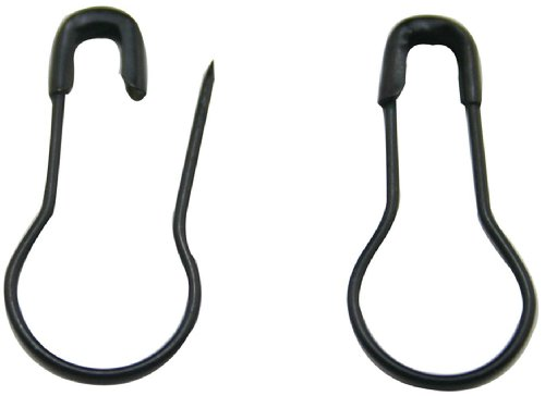 HONBAY Pack Of 300 Metal Black safety Pins/Gourd Pin/Bulb Pin/Calabash Pin Bead Needle Pins DIY Home Accessories , Suitable for the Tailor