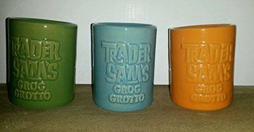 Disney Trader Sam's Grog Grotto Tiki Shot Glass Set of 3