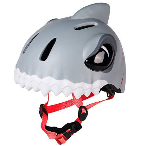 M Merkapa Toddler Helmet CPSC CE certificated Adjustable 3D Shark Helmets for Kids Girls Boys