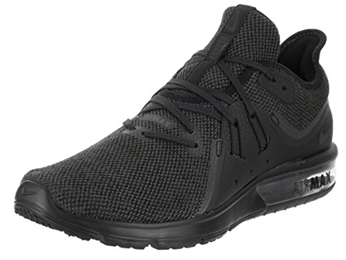 NIKE Women's Air Max Sequent 3 Black/Anthracite Running Shoe 7.5 Women US