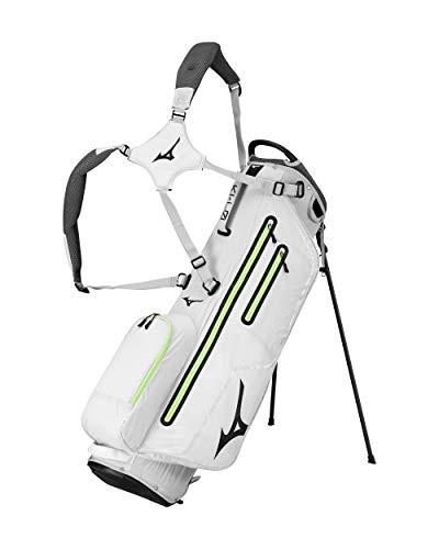 Mizuno K1-LO Stand Bag, Light Grey/Neon Green