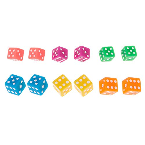 Claire's Girl's Neon Dice Stud Earrings - 6 Pack