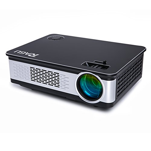 "Price comparison product image Video Projector, RAGU Z720 HD Projectors Portable Movie Projector 3200 Luminous Efficiency 1280x720 5.8"" LCD Home Theater with HDMI Support 1080P VGA USB SD AV TV Laptop for Entertainment Game Party"