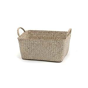 Skalny 82275.3WHT White Rectangle Seagrass Storage Baskets