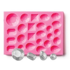 NY Cake Silicone Mold-Assorted Gem, Large -25 Cavities.