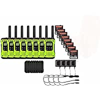 Motorola FRS/GMRS T600 Two-Way Radios / Walkie Talkies - Rechargeable & Fully Waterproof 8 PACK