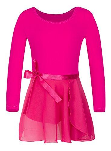 - YEEIC Girls' Long Sleeve Dress Athletic Dance Leotard (2-4, Rose)
