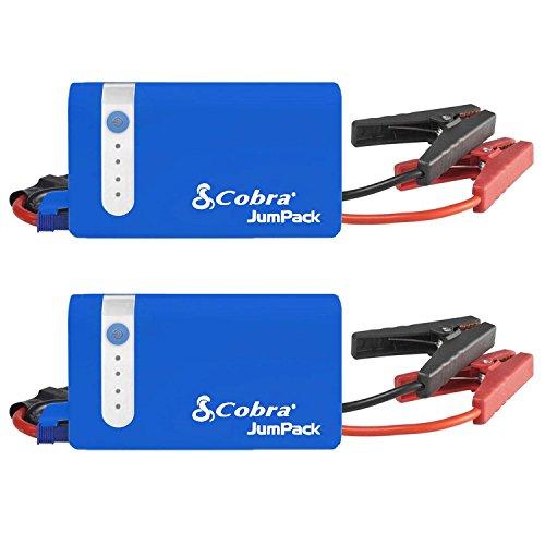 Cobra Blue JumPack 400A Jump Start/Charger, 2 Pack (Certified Refurbished) by Cobra