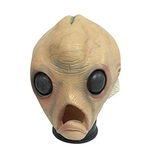 Mltao Alien Mask Cosplay Props Monster Head Mask Halloween Dress up Head Mask (Alien Child Mask)