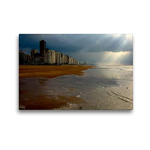 Premium Textil de lienzo 45cm x 30cm Horizontal Ostende, 45x30 cm por Alain Gaymard