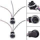 PartsSquare 2 x 3157 4057 3156 LED Bulb Brake Signal Light Socket Extension Harness Wire