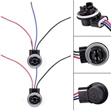 PartsSquare 2 x 3157 4057 3156 LED Bulb Brake Signal Light Socket Extension Harness Wire