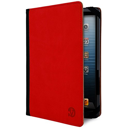 Red & Black Mary Wallet Portfolio Case for Toshiba Excite Pure / Pro / Write (Toshiba Corner)