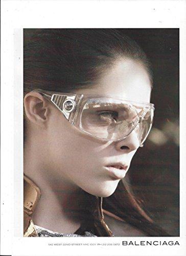 **PRINT AD** WIth Lara Stone For 2015 Balenciaga Clear Frame Eyewear **PRINT - Eyewear Stone