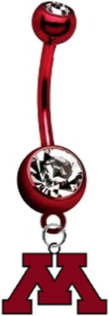 Minnesota Gophers PREMIUM Red Titanium Anodized Sexy Belly Navel Ring