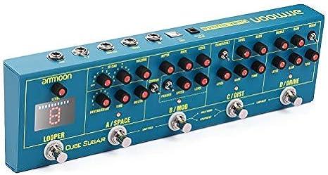 ammoon Pedal Multiefectos Guitarra Eléctrica, 5 Efectos Analógicos ...