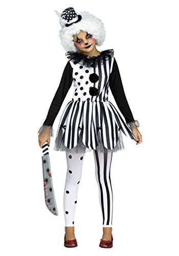 Fun World Big Girl's Killer Clown Childrens Costume, Multi, Medium 8-10, Multicolor, -