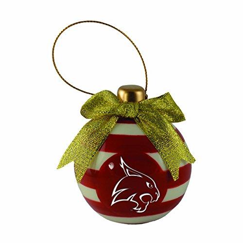 (Texas State University -Christmas Bulb Ornament)