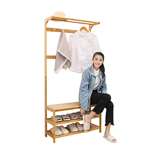Amazon.com: GYY Coat Rack Coat Rack Floor Shoe Rack Hall ...