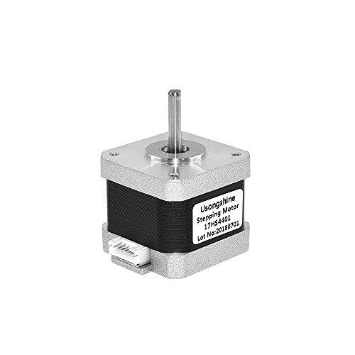 40mm 17HS4401 High Torque Bipolar Stepper Motor Nema 17, 0.46Nm Low Noise 42 DC Step Motor Kit, 1.82-Phrase Universal Electric Motor DC motor for 3D Printer Laser Engraving (40mm)