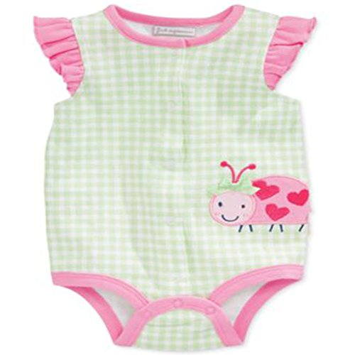 First Impressions Baby Girls Ladybug French Cre Patina Green 0-3 Months