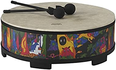 """Remo KD-5822-01 Kids Percussion Gathering Drum - Fabric Rain Forest, 22"""""""