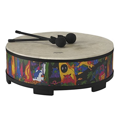 Remo KD-5822-01 Kids Percussion Gathering Drum - Fabric Rain Forest, (Giant Striped Bass)